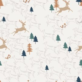 Katia Fabrics Jersey Forest Deers