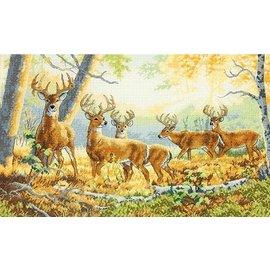 Dimensions Borduurpakket met telpatroon van Dimensions :Herten in het bos