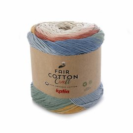 Katia Fair Cotton Craft 500 Beige-Roest-Geel-Grijs