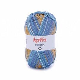 Katia Menfis Color 105 Blauw-Oker