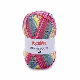 Katia Menfis Color 108 Koraal-Roos-Geel-Blauw
