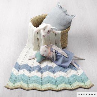 Breipatroon Babydeken in Katia Cotton Fair Craft