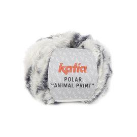 Katia Polar Animal Print 206 Grijs-Donkerblauw