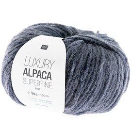 Rico Luxury Alpaca Superfine Aran 17 Blaugrau