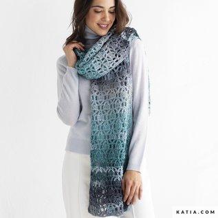 Haakpatroon sjaal Azteca Fine Lux