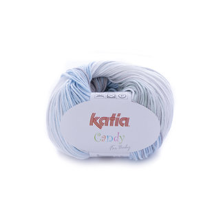 Katia Candy 672 Wit-Turquoise-Grijs