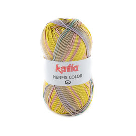 Katia Menfis Color 109 Pistache-Roos-Lila-Turquoise