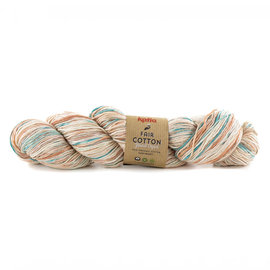 Katia Fair Cotton Hand Dyed 700 Roestbruin-Reebruin-Groenblauw