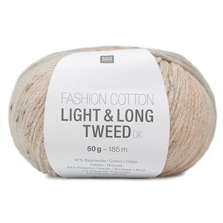 Rico Fashion Cotton Light & Long Tweed Lachs-Blau