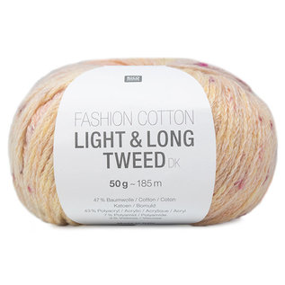 Rico Cotton Light & Long Tweed Vanille-Rosa