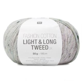 Rico Cotton Light & Long Tweed Flieder-Mint