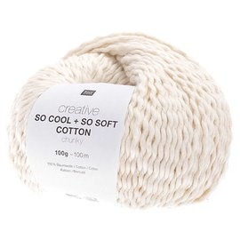 Rico So Cool  So Soft Cotton Chunky 001 Creme