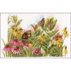 Lanarte Borduurpakket zonnehoedjes en vlinders