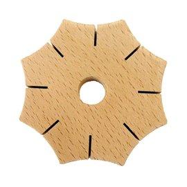 Knoop-ster van hout