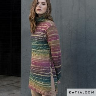Katia Azteca Fine Lux 410 Groenblauw-Bruin-Kaki