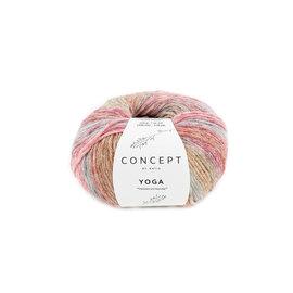 Katia Yoga 206 Hemelsblauw-Roos-Rood