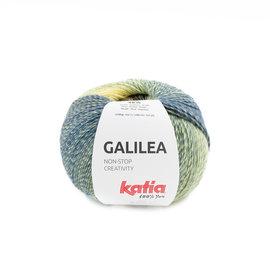 Katia Galilea 306 Bruin-Donker blauw-Citroengeel