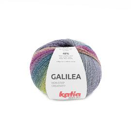 Katia Galilea 307 Groenblauw-Lila-Lichtgeel