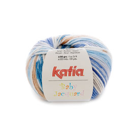 Katia Baby Jacquard 83 Blauw-Beige