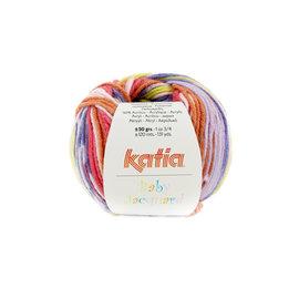Katia Baby Jacquard 89 Oranje-Paars-Donkerblauw