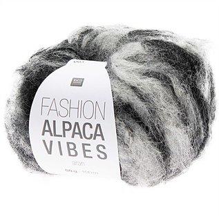 Rico Alpaca Vibes Aran 1 Zwart-Wit