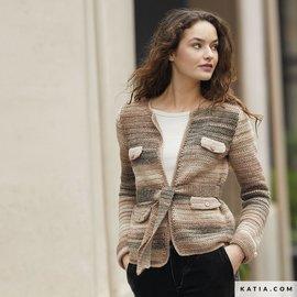 Katia Haakpatroon Vest in Katia Azteca Fine Lux