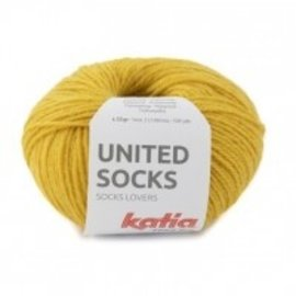 Katia United Socks 19 Mosterdgeel