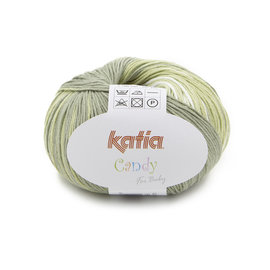 Katia Candy 679 Wit-Groen-Roos