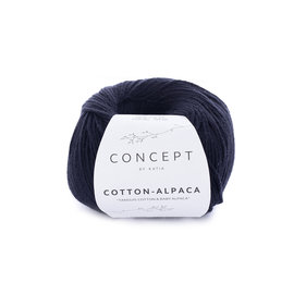 Katia Cotton Alpaca 86 Zwart