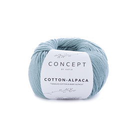 Katia Cotton Alpaca 97 Waterblauw