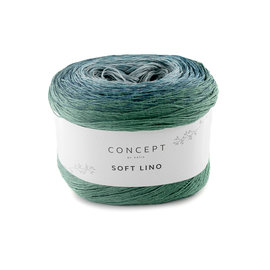 Katia Soft Lino 601 Blauw-Groenblauw