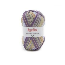 Katia Menfis Color 112 Lila-Groen-Zalmoranje