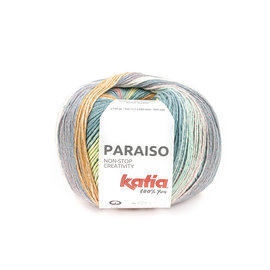 Katia Paraiso 100 Licht geel-groen-oranje-violet