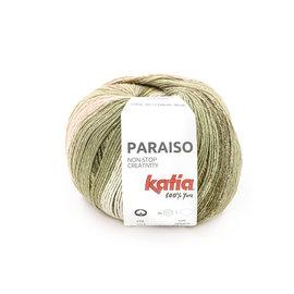 Katia Paraiso 103 Waterblauw-Kaki-Geel-Roos
