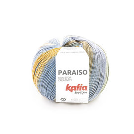 Katia Paraiso 104 Kaki-Beige-Blauw