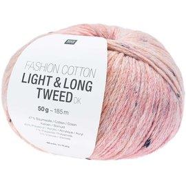 Rico Cotton Light & Long Tweed Fuchsia