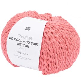 Rico So Cool  So Soft Cotton Chunky 016 Raspberry