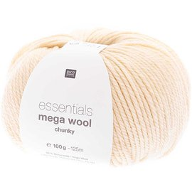 Rico Mega Wool Chunky 20 Elfenbein