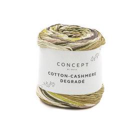 Katia Cotton Cashmere Degradé 104 Parel-Violet-Pistache-Roos-Geel