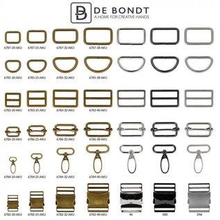 Metalen D-ringen 25 mm diverse kleuren