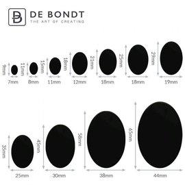 Ovalen veiligheidsoogjes zwart