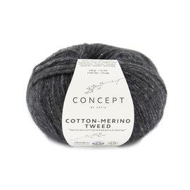 Katia Cotton Merino Tweed 503 Donkergrijs