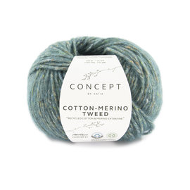 Katia Cotton Merino Tweed 504 Turquoise