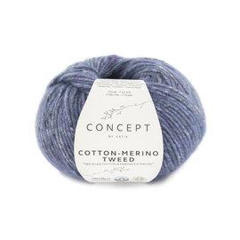 Katia Cotton Merino Tweed 508 Blauw