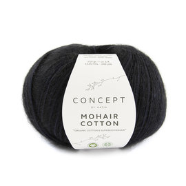 Katia Mohair Cotton 82 Zwart