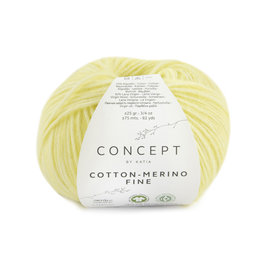 Katia Cotton Merino Fine 83 Lichtgeel