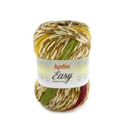 Katia Easy Jacquard 103 Camel-Rood-Geel-Groen-Blauw