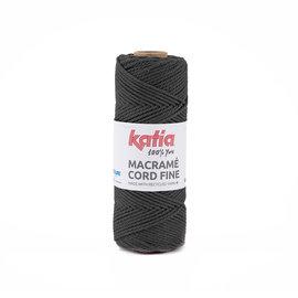 Katia Macramé Cord Fine 202 Antracietgrijs