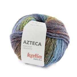 Katia Azteca 7882 Robijnrood-Loofgroen-Blauwlila