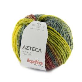 Katia Azteca 7884 Turquoise-Geel-Blauwgroen